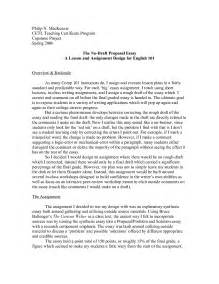 Proposal Essay Paper Example