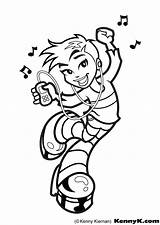 Coloring Hop Hip Pages Dance Getdrawings sketch template