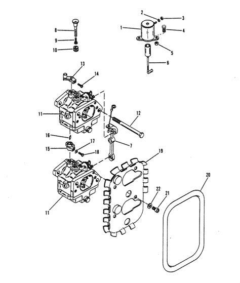 mercury marine  hp  cylinder carburetor linkage