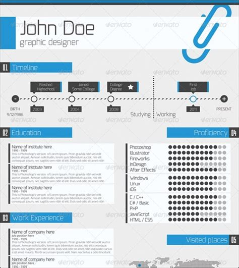 photoshop resume template berathen