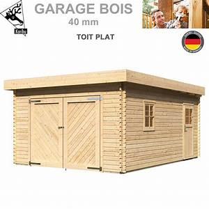 Garage En Bois Toit Plat : garage bois toit plat madrier 40 mm 68284 karibu a ~ Dailycaller-alerts.com Idées de Décoration