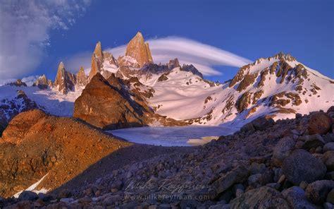 Laguna De Los Tres And Fitzroy Massif Cordilleras Andes