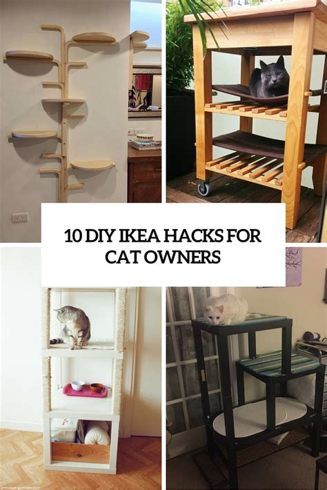 cute diy ikea hacks  cat owners