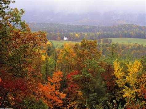 Spectacular Fall Smoky Mountains National Park Tennessee