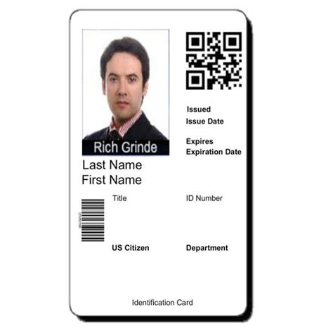 employee badges online custom card template photographer id card template