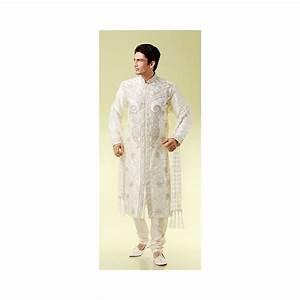 Tenue Indienne Homme : tenue indienne de mari en blanc traditionnelle blanche ~ Teatrodelosmanantiales.com Idées de Décoration