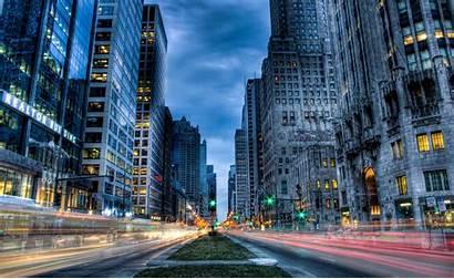 Chicago Street Desktop Usa Wallpapers Computer Skyscrape