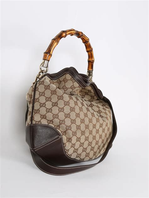 gucci peggy gg canvas bamboo handle bag luxury bags