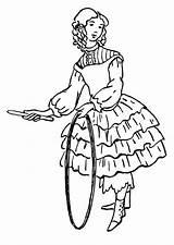 Coloriage Fille Cerceau Coloring Colorear Avec Hula Jeune Aro Colorare Hulahup Ragazza Disegno Kleurplaat Hoepel Chica Dibujo Colorir Meisje Grande sketch template