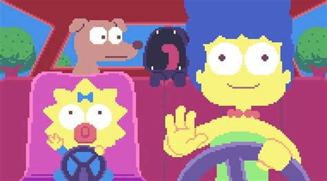 Watch This Amazingly Pixelated Simpsons Intro Laser Time