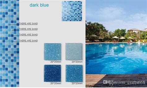 Glass Mosaic Tile Pool Mosaic Sky Blue Color Mosaic Tile