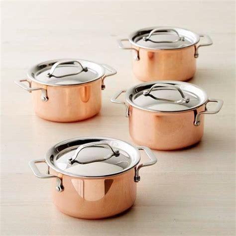 mini copper cocottes set   mini copper williams