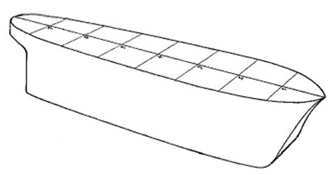 Boat Hull Outline by Model Boat Hull Construction Carved Solid Block Part One