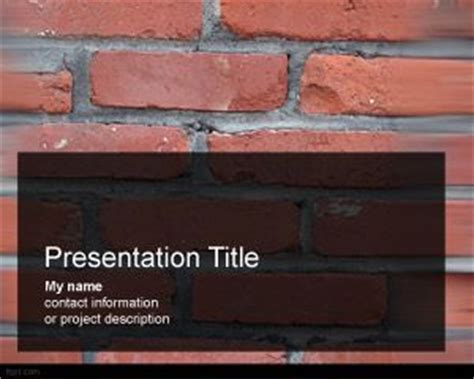 Concrete Brick Template by Free Bricks Powerpoint Template