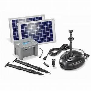 Fontaine Solaire Pour Bassin : kit pompe solaire bassin milano led 20w avec batterie sur ~ Dailycaller-alerts.com Idées de Décoration