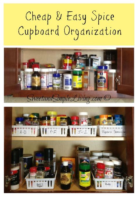 how to organize your kitchen spices kitchen organization cheap and easy spice cupboard 8784