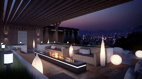creer une cuisine dans un petit espace eclairage terrasse