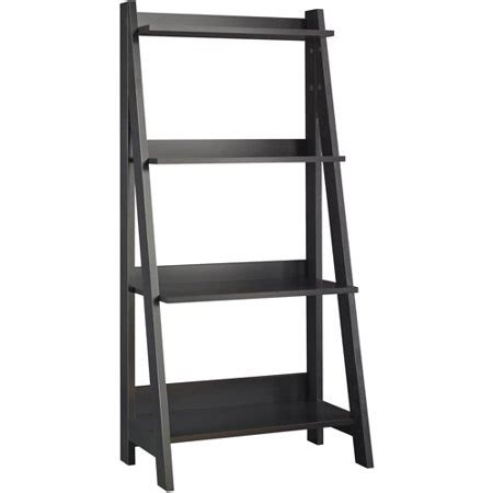 walmart ladder shelf bush alamosa ladder bookcase classic black walmart