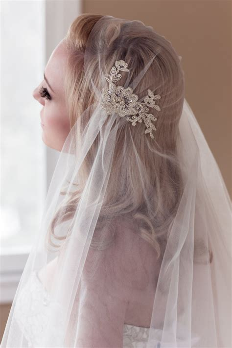 Gold Lace Juliet Bridal Cap Wedding Veil Alencon By