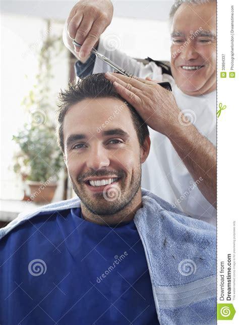 man   haircut  hairdresser stock image image