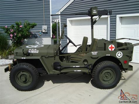 army jeep ww2 willys 1946 cj2a u s army ww2 type military police style