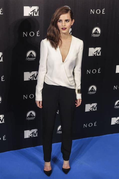 Emma Watson Noah Premiere Madrid Hawtcelebs