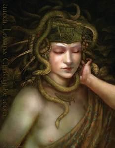 Minoan Snake Goddess Digital Art Fantasy Portrait By