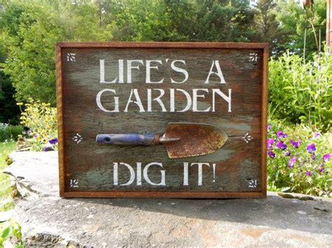 Garden Sign Handmade Wood Outdoor Signs