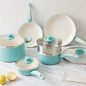 Greenpan® Nonstick 10-Piece Cookware Set - Aqua ...