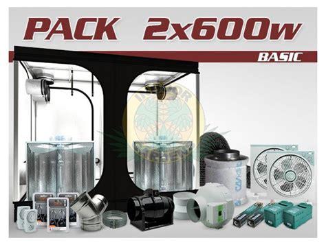 pack chambre de culture ventil 233 ind 233 2x600w hps grolux