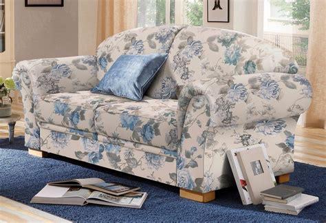 sofa mit blumenmuster home affaire 2 sitzer 187 amrum 171 mit blumenmuster mit federkern kaufen otto