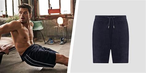 sebastian stans armani exchange velvet shorts