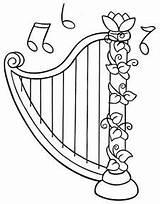 Colorear Dibujos Colorir Desenho Arpas Harpa Harp Desenhos Coloring Imprimir Instrumente Instrumentos Musicales Infantil Sin Musik Vorlagen Malvorlagen Zurueck Zu sketch template