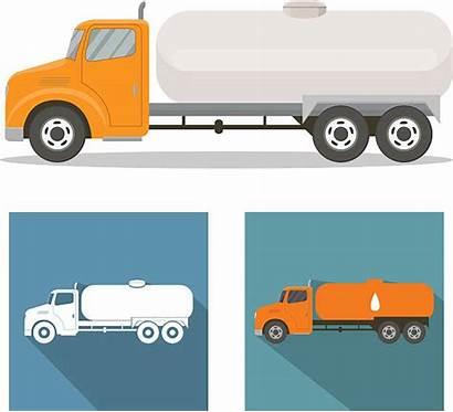 Truck Tank Vector Clip Tanker Illustrations Oil