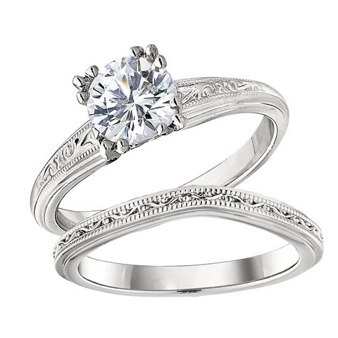solitaire vintage style engagement ring settings