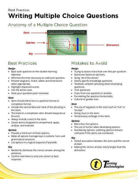 practice writingmultiplechoicequestions