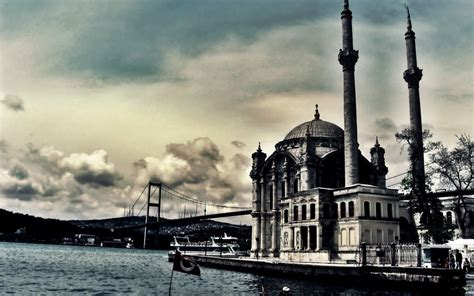 turkey hdr clouds sky mosques architecture building