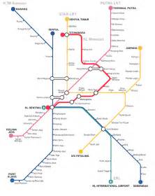 Kuala Lumpur LRT Map Malaysia