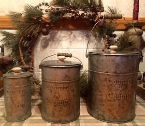 Primitive Easter Decor Canister Set by 1000 Ideas About Primitive Canisters On