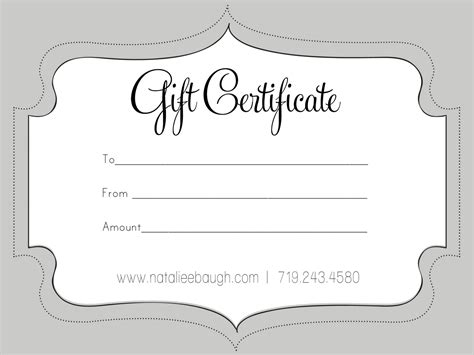 free printable photography gift certificate template gift certificate template certificate templates