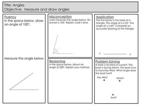 mastery maths angles drawing and measuring angles