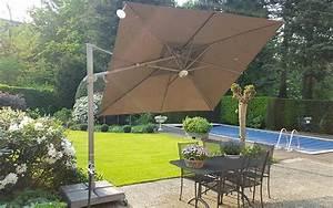 Grand Parasol Déporté : fratello solero parasol d port excentr inclinable en 3x3m pour terrasse piscine maison ~ Teatrodelosmanantiales.com Idées de Décoration