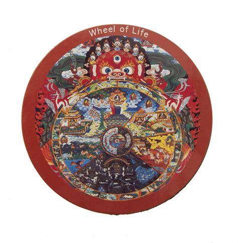 bureau pour 2 magnet tibetain roue de la vie bouddhiste nepal tibet 73