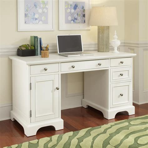 shop home styles naples white computer desk at lowes com