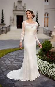 Brautkleid Vintage Schlicht : traditional wedding dress with lace satin stella york ~ Watch28wear.com Haus und Dekorationen