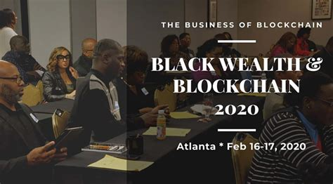 They said that if we don't have someone in the area we can do a. Black Wealth & Blockchain 2020 - BlockSocial