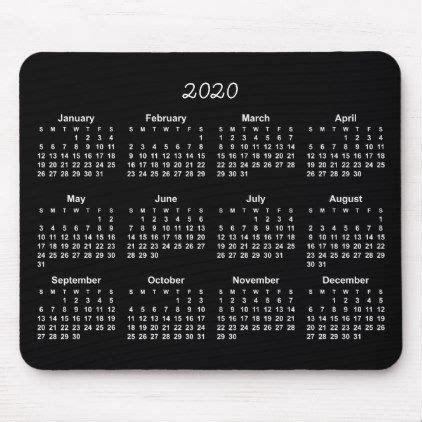 calendar black background