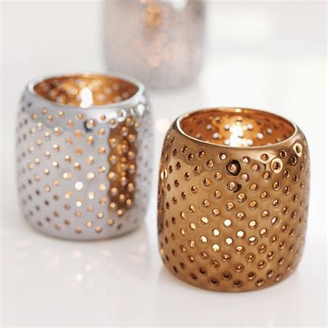 mercury glass votives use tea light candle holders for decoration in decors