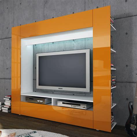 Wohnwand Orange Hochglanz  Bestseller Shop Für Möbel Und