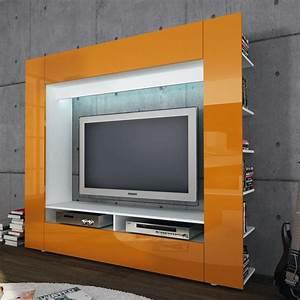 Medienwand Weiss Hochglanz : wohnwand tv medienwand anbauwand olli in wei front in hochglanz wahlweise led ebay ~ Indierocktalk.com Haus und Dekorationen